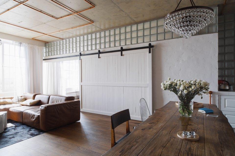 Трёхкомнатная квартира виндустриальном стиле. Изображение № 14.