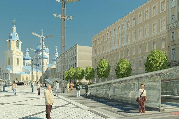 Смольный утвердил проект реконструкции Сенной площади. Изображение № 6.