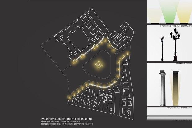 На ночь глядя: 12 проектов подсветки Главного штаба. Изображение № 51.