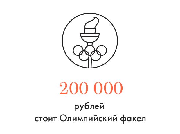 Цифра дня: За сколько продают Олимпийский факел. Изображение № 1.
