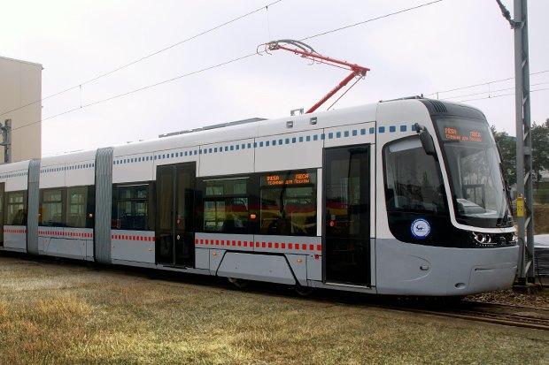 В Москве появился первый трамвай нового поколения. Изображение № 1.