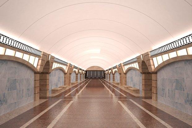 Перспектива центрального зала «Большого проспекта». Изображение № 1.