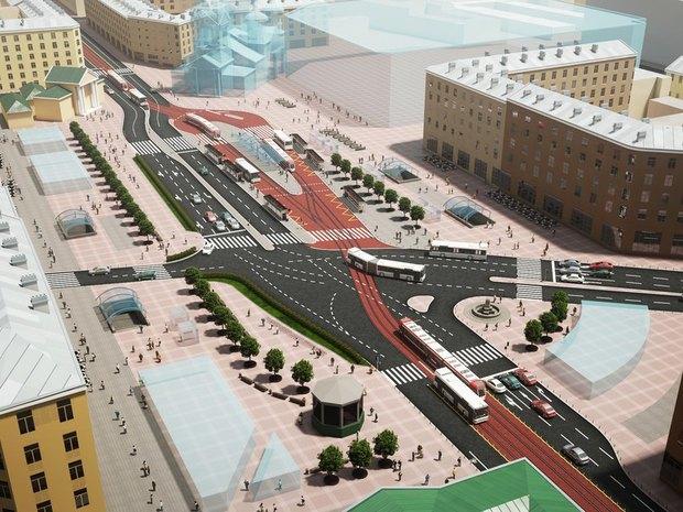 «КрасивыйПетербург» представил альтернативный проект реконструкции Сенной площади. Изображение № 1.
