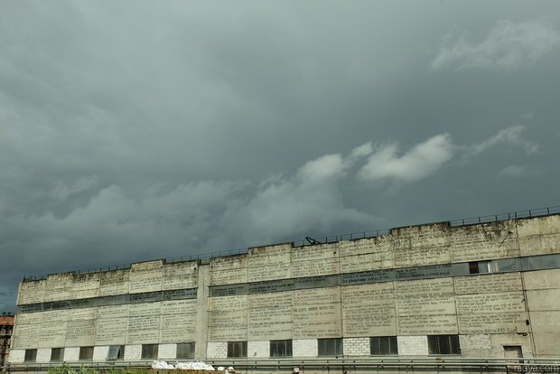 Стену Завода слоистых пластиков расписали граффити. Изображение № 3.