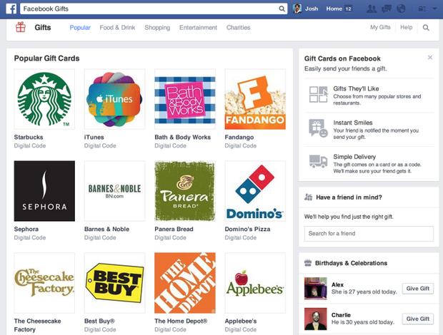 Facebook прекращает продажу цифровых подарков. Изображение № 1.