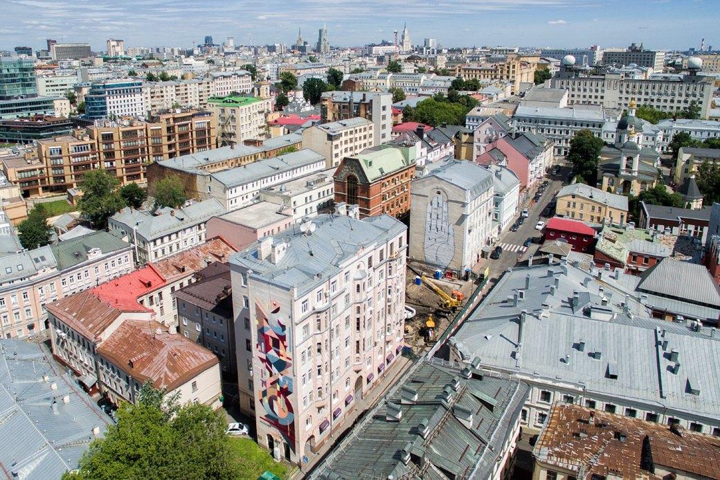 Лучшие московские граффити свысоты птичьего полёта. Изображение № 4.