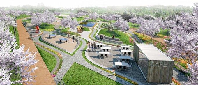 Наберегу Охты построят парк для семейного отдыха . Изображение № 1.