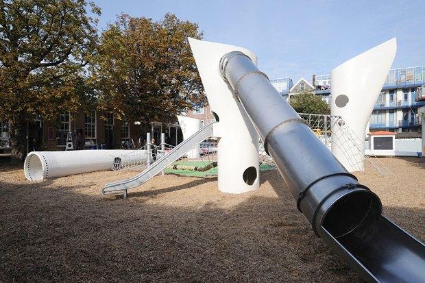 Идеи для города: Детская площадка из крыльев ветряной мельницы вРоттердаме. Изображение № 4.