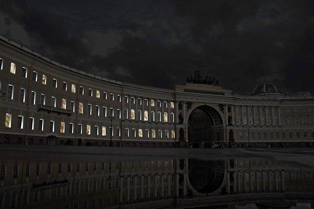 На ночь глядя: 12 проектов подсветки Главного штаба. Изображение № 88.