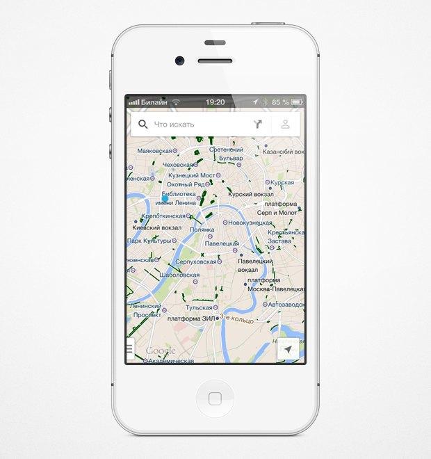 На мобильных картах Google появились велодорожки. Изображение № 5.