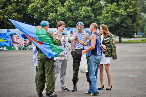 Фоторепортаж: День ВДВ в парке Горького. Изображение № 21.