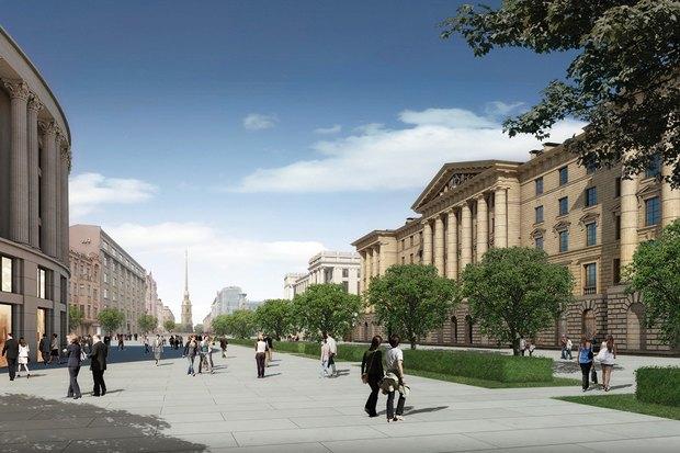Суд идёт: четыре проекта квартала на месте «Набережной Европы». Изображение № 28.