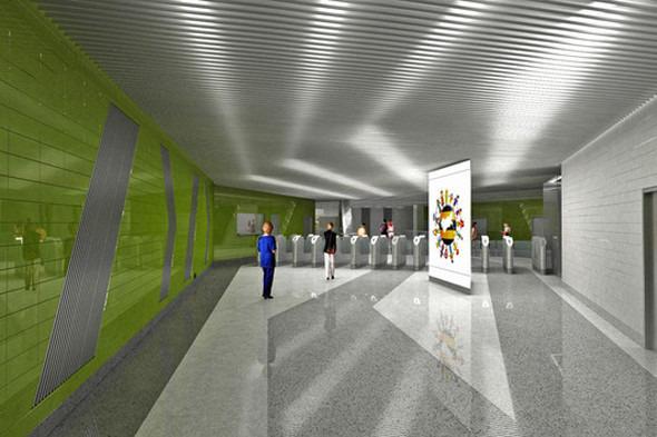 Мэрия показала новую станцию метро «Новокосино». Изображение № 5.
