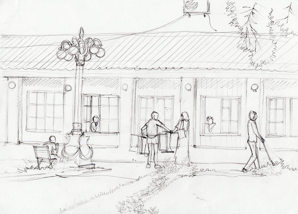 Клуб рисовальщиков: Сад «Эрмитаж». Изображение № 4.