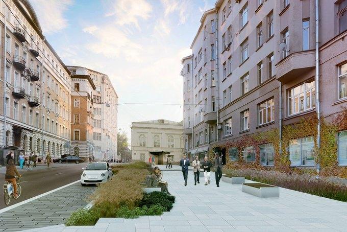 Визуализация проекта реконструкции Милютинского переулка. Изображение № 2.