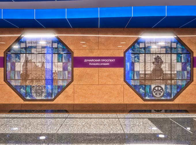 Смольный утвердил внешний вид станции метро «Дунайская». Изображение № 5.