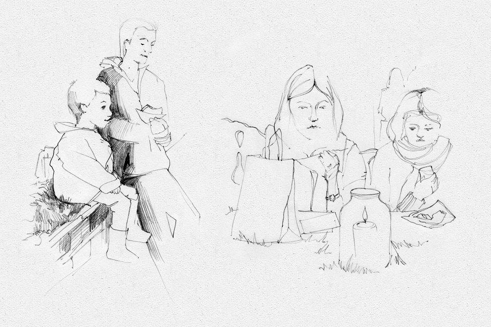Клуб рисовальщиков: Городской маркет еды на Соколе. Изображение № 5.