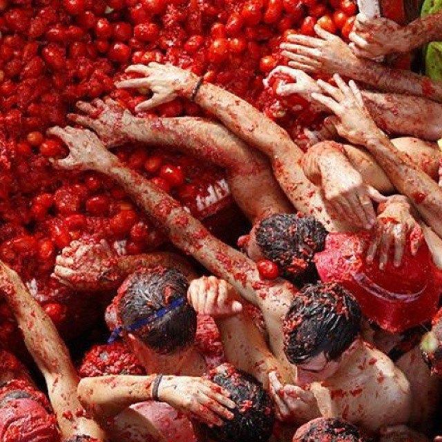 Битва помидорами вИспании вснимках Instagram. Изображение № 7.