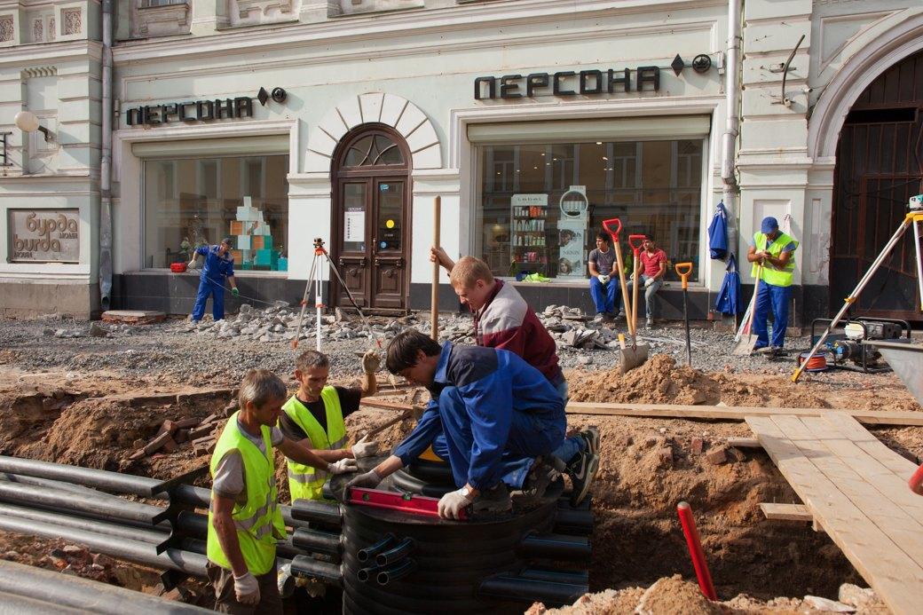 Её раскопали: Пешеходные улицы Москвы за месяц до открытия. Изображение № 31.