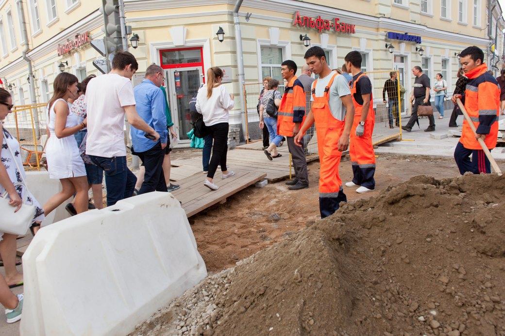 Её раскопали: Пешеходные улицы Москвы за месяц до открытия. Изображение № 20.