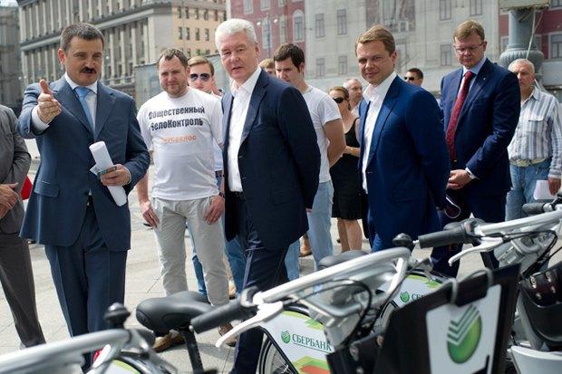 Сергей Собянин осматривает обновлённый московский велопрокат. Изображение № 4.