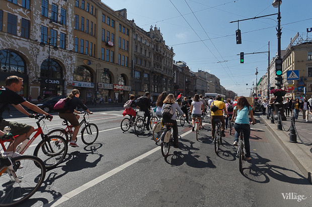 Фоторепортаж: Велопробег «За велогород». Изображение № 11.
