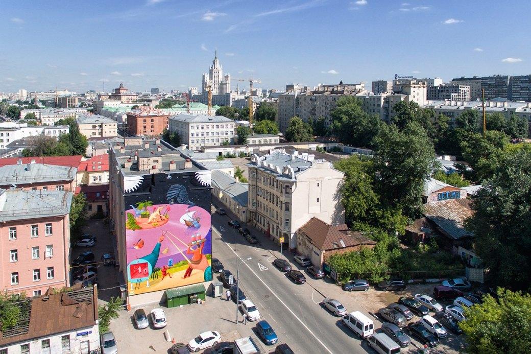 Лучшие московские граффити свысоты птичьего полёта. Изображение № 8.