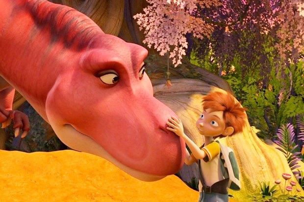 «Диномама 3D», мульт про школьников, попавших в Юрский период, где самка динозавра принимает их за своих детей. Изображение № 2.