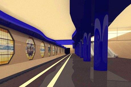 Опубликованы эскизы новых станций фиолетовой ветки метро. Изображение № 2.