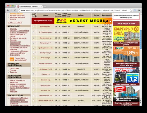 Правила съёма: 7 сайтов для поиска квартир в Петербурге. Изображение № 13.