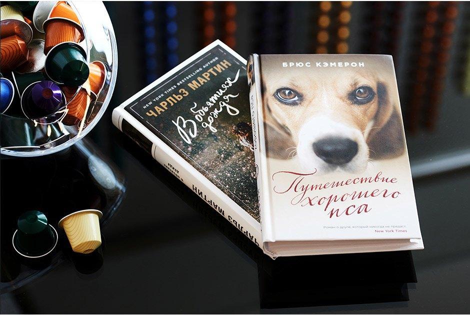 «Путешествие хорошего пса» Брюса Кэмерона — история о верности, любви, привязанности и бескорыстной дружбе и «В объятиях дождя» Чарльза Мартина — светлый роман о прошлом, которое всегда может вернуться. Изображение № 19.