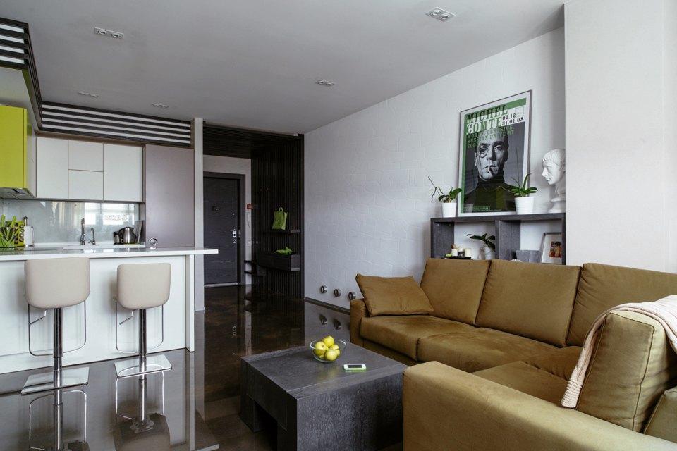 Трёхкомнатная квартира сэклектичным интерьером. Изображение № 4.