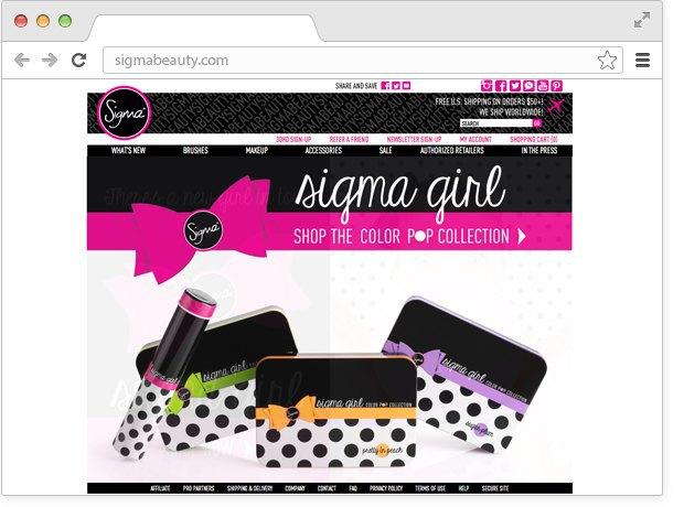 Сайт с косметикой из америки