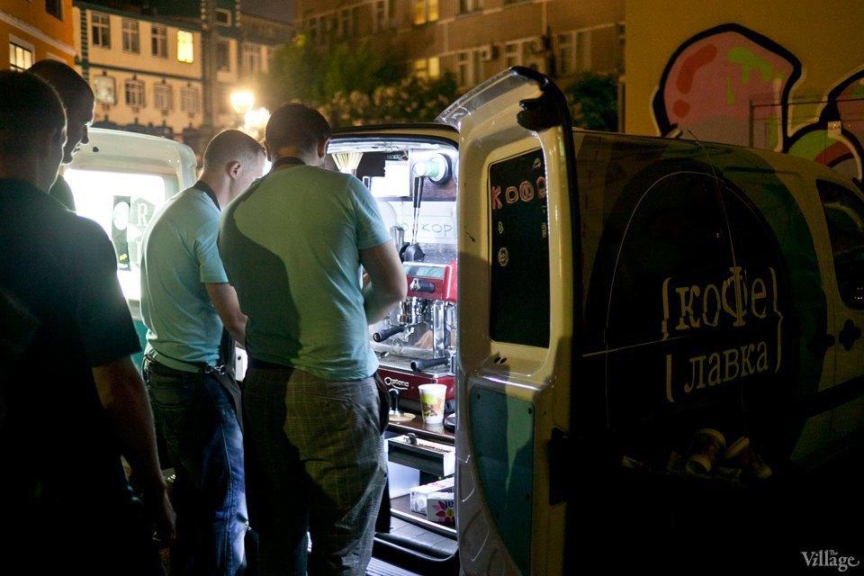 «КофеЛавка», Artplay. Кофе с машины, вовсю ездят по городу со своим кофе. Изображение № 69.