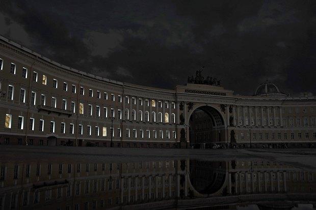 На ночь глядя: 12 проектов подсветки Главного штаба. Изображение № 86.