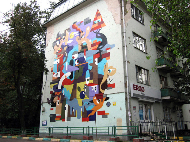 Герб Москвы: Версия граффити-художника Nootk. Изображение № 5.
