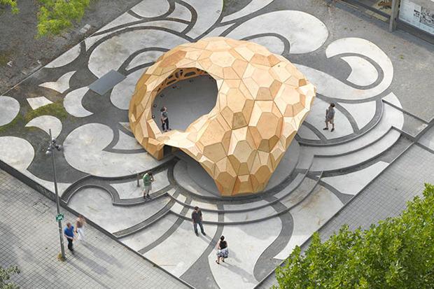 Дизайн от природы: Стекло-паутина и павильон — морской еж в Германии. Изображение № 12.