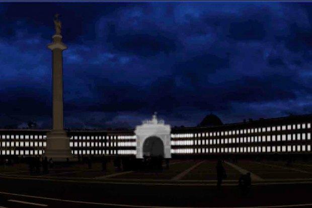 На ночь глядя: 12 проектов подсветки Главного штаба. Изображение № 68.