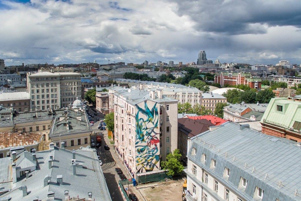 Лучшие московские граффити свысоты птичьего полёта. Изображение № 5.