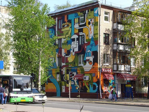 Герб Москвы: Версия граффити-художника Nootk. Изображение № 6.