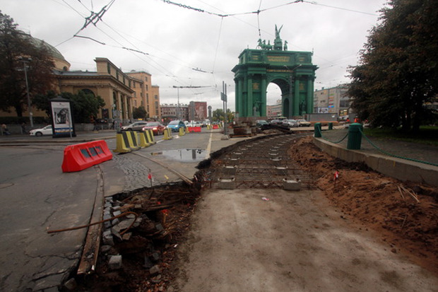 Капитальный ремонт путей на площади Стачек. Изображение № 1.