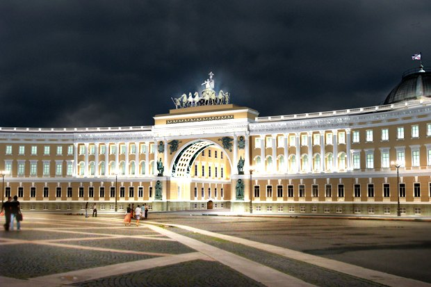 На ночь глядя: 12 проектов подсветки Главного штаба. Изображение № 79.