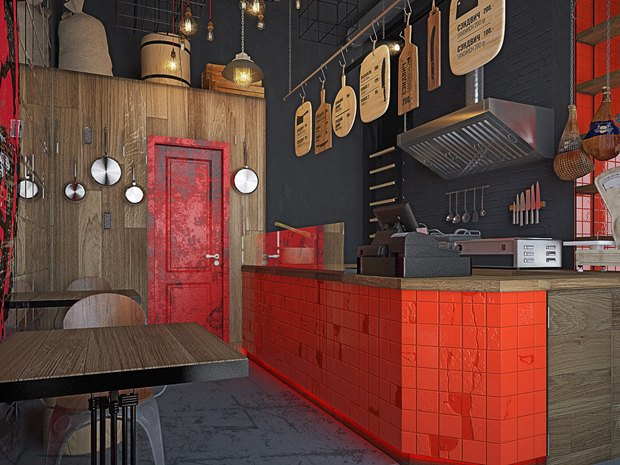 У«Василеостровской» заработает бар спастрами идругими мясными блюдами. Изображение № 3.