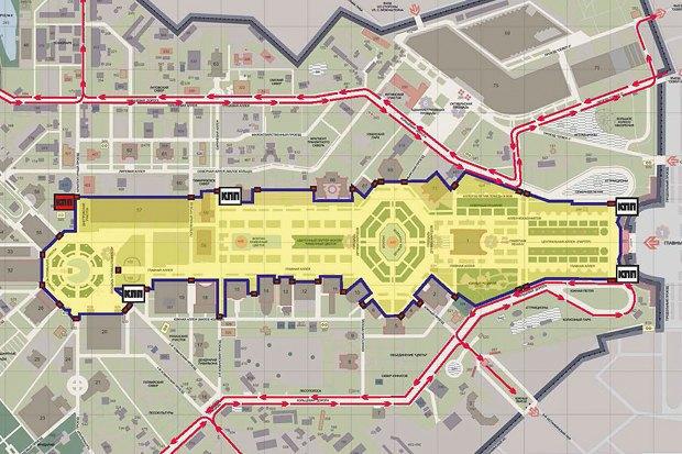 Треть территории ВДНХ стала пешеходной. Изображение № 1.