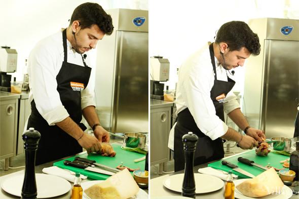 Omnivore Food Festival: Майкл Гринвольд и Симоне Тондо готовят орзотто из ячменя и тартар из голубя. Изображение № 4.