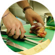 Omnivore Food Festival: Майкл Гринвольд и Симоне Тондо готовят орзотто из ячменя и тартар из голубя. Изображение № 18.