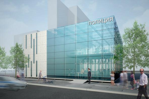 Молодые архитекторы предложили проект прозрачного полицейского участка. Изображение № 5.
