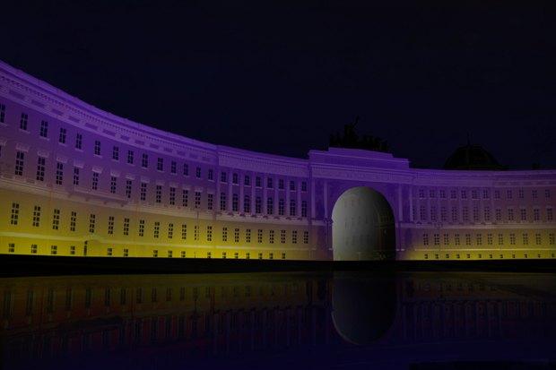 На ночь глядя: 12 проектов подсветки Главного штаба. Изображение № 47.