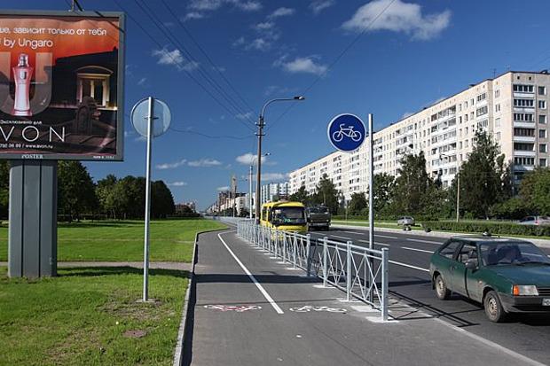 Велодорожка на проспекте Луначарского. Изображение № 4.