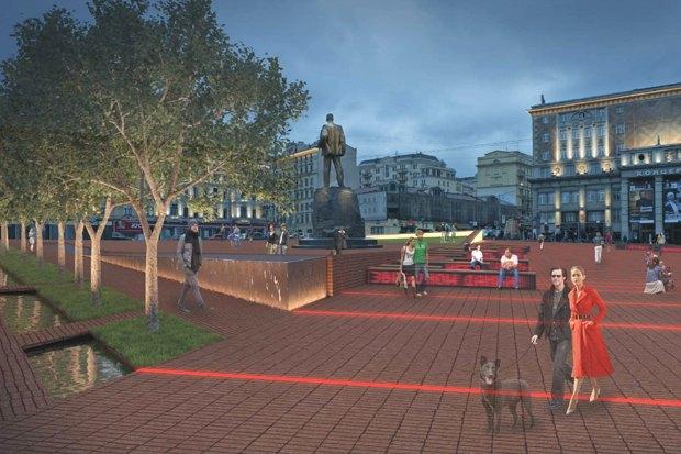 Как будет выглядеть Триумфальнаяплощадь: Три концепции финалистов. Изображение № 6.